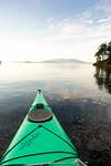 Sea kayak bow, Cypress Island, San Juan Islands, WA USA