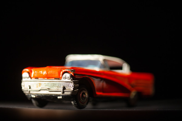 Close-up of toy red car