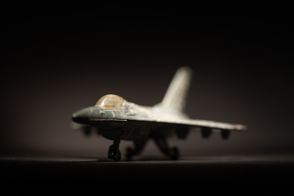 Close-up of toy jet plane