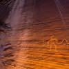 Wavy-armed figure, Fremont petroglyphs, Utah