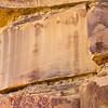 Vertical moccasin panel, Fremont petroglyphs, Greater San Rafael Swell, Utah