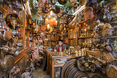 "An antiques shop in Aleppo's Old Souq, Syria. This photograph was the Syria-wide winner of Canon's ""Celebrating My City"" Middle East Photo Competition for 2010."