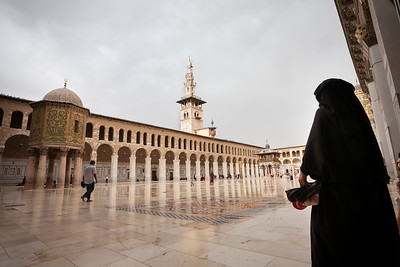A rainy summer day at Damascus' Umayyad Mosque, Syria, 2008