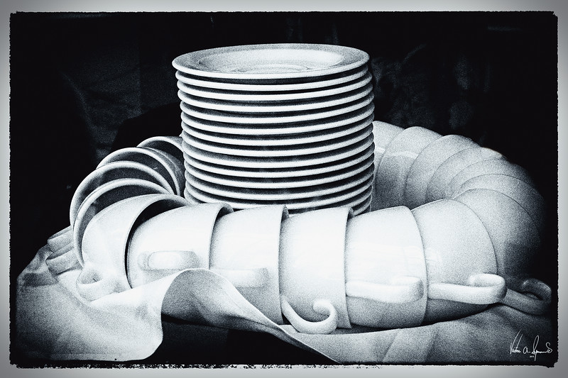 """FILM NOIR CUPS AND SAUCERS"""