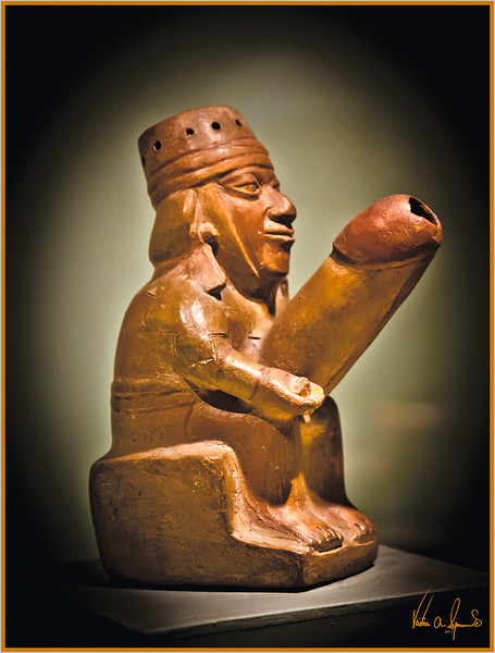 """""""THE GOD WITH THE ROD"""" - LIMA, PERU ON NOVEMBER 12, 2011 AT THE NATIONAL MUSEUM OF ARCHEOLOGY, ANTHROPOLOGY, AND HISTORY"""