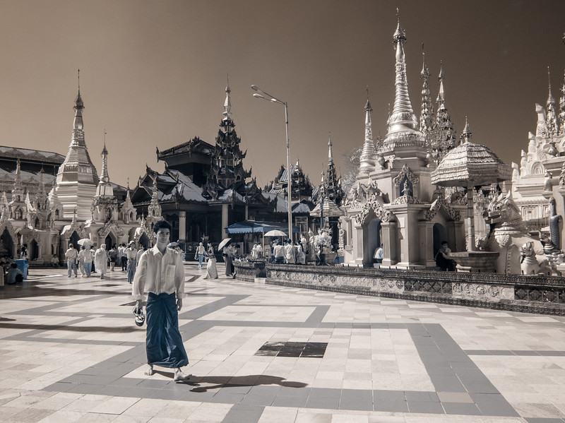 Man at Shwedagon