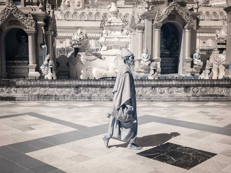 Hermit Monk at Shwedagon
