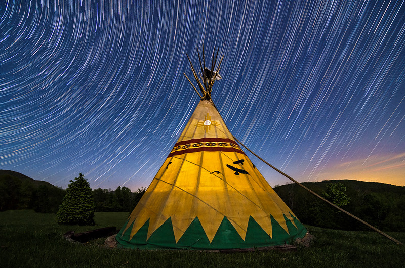 Tipi Star Trails