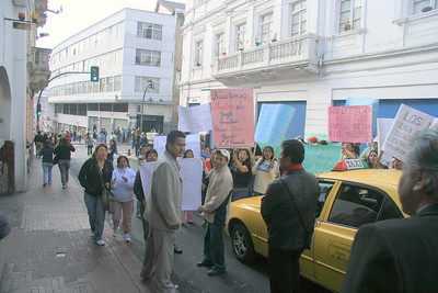 protesting in Quito
