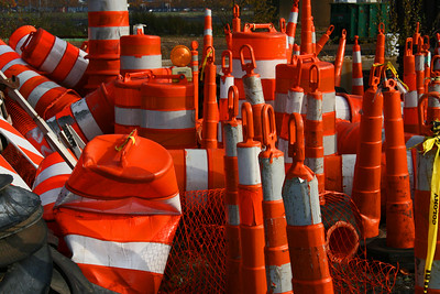 Safety cone grave yard
