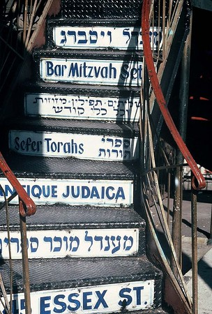 LOWER EAST SIDE STAIRS TO JUDAICA STORE