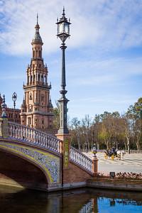 Plaza de España and Carriage, Seville, Spain