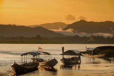 Mekong River, Chiang Khong, Thailand