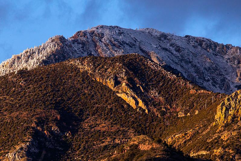 Snow-capped Huachuca Mountains, Cochise County, Arizona