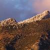 Snow-capped Huachuca Mountains panorama, Cochise County, Arizona