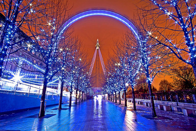 The London Eye After Dark