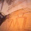 Hand-in-hand anthropomorphs, Fremont pictographs, Utah