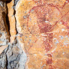 Haunting teethed Barrier Canyon Style pictographs, Utah