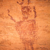 Horned anthropomorph, Barrier Canyon Style pictographs, Utah