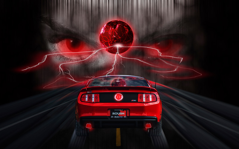 Ride The Lightning! -  Digital Composite by Leman's Studios - *Photo by DeeDee Niederhouse-Mandrell - www.visualjourneysstudios.com