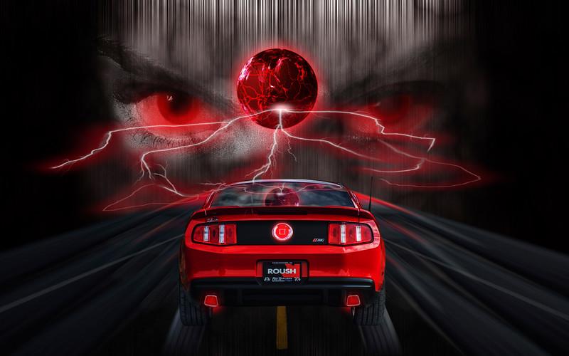 Ride The Lightning! -  Digital Composite by Leman's Studios - *Photo by DeeDee Niederhouse-Mandrell - www.visualjourneysstudios.com