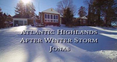 Atlantic Highlands  Winter Storm