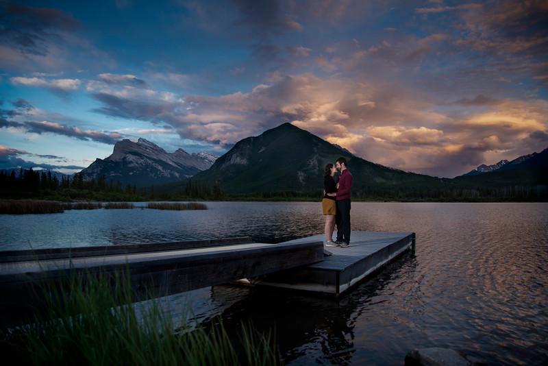 Vermilion Lakes Engagement