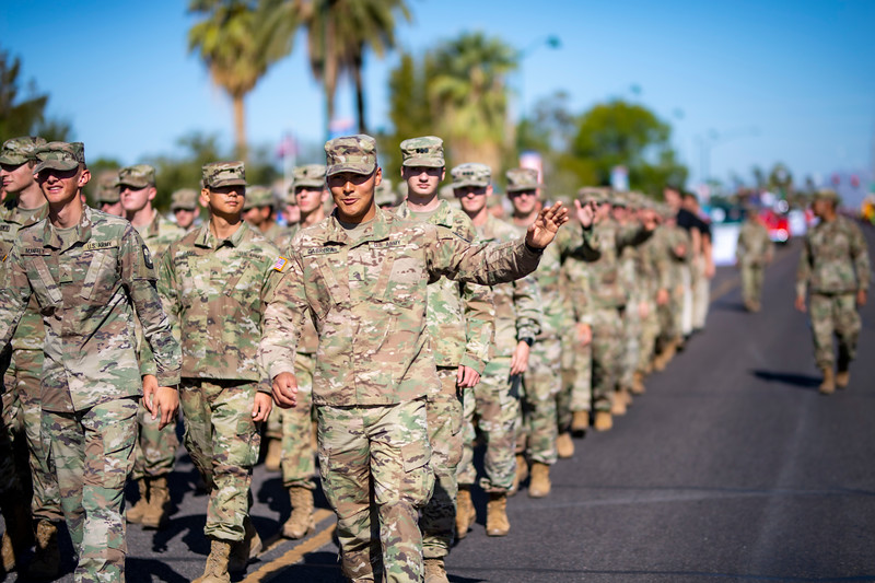 I photograph the East Valley Veteran's Day Parade every year