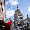 Sacre Coeur from a neighbouring street in Montmartre.