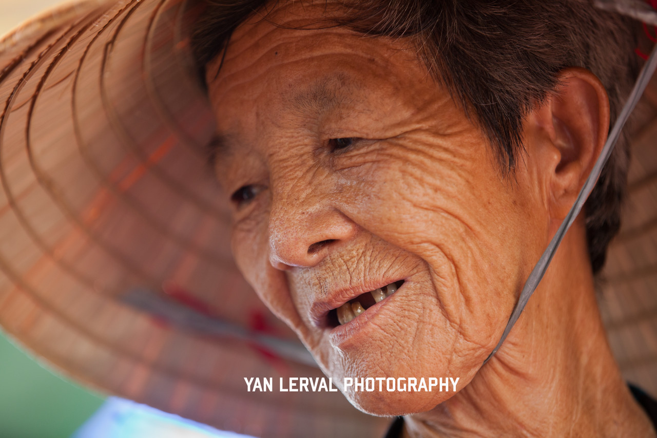 Old woman in Go Dau, Tay Ninh Province
