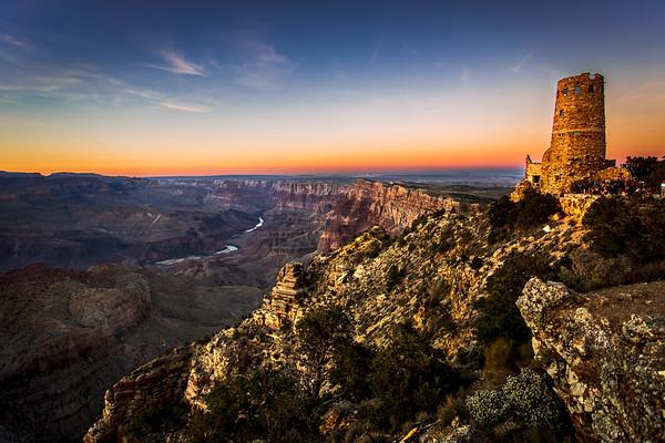 Desert View Watch Tower, Grand Canyon National Park,  East Rim, Arizona