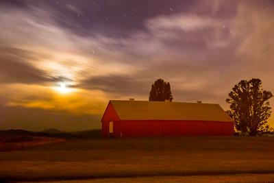 Red Barn in the Moonlight, Red Barn Series, Petaluma CA
