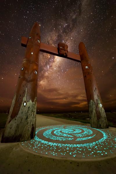 Maori Ceremonial Arch,  Waitangi Regional Park, Napier NZ