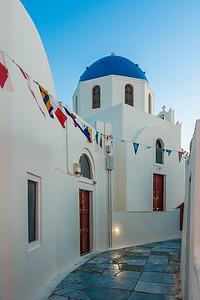 Oia Street at Dusk, Oia, Santorini, Aegean Sea, Greece