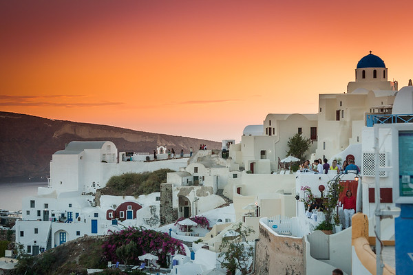Oia Sunset, Santorini, Greece - Aegean Sea