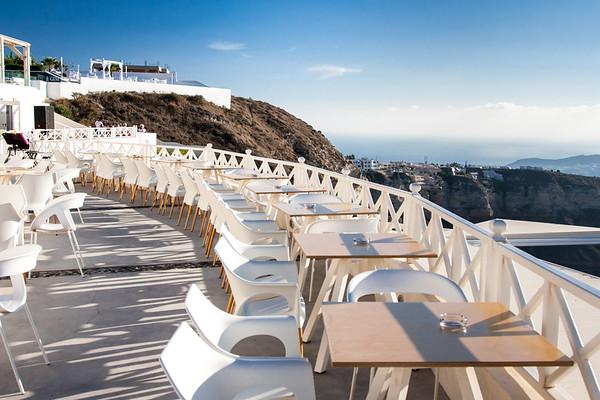 Santo Wineries, Santorini, Aegean Sea, Greece.