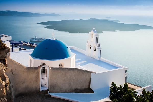 St. Gerasimos Christian Church, Santorini, Aegean Sea, Greece