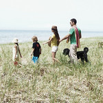 Tim, Jala and the kids<br /> Lake Michigan Lakeshore near Glen Arbor, Michigan