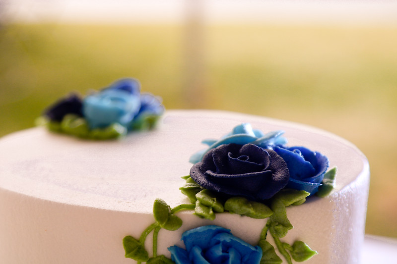 Detail of the beautiful intricate detail on the cake.
