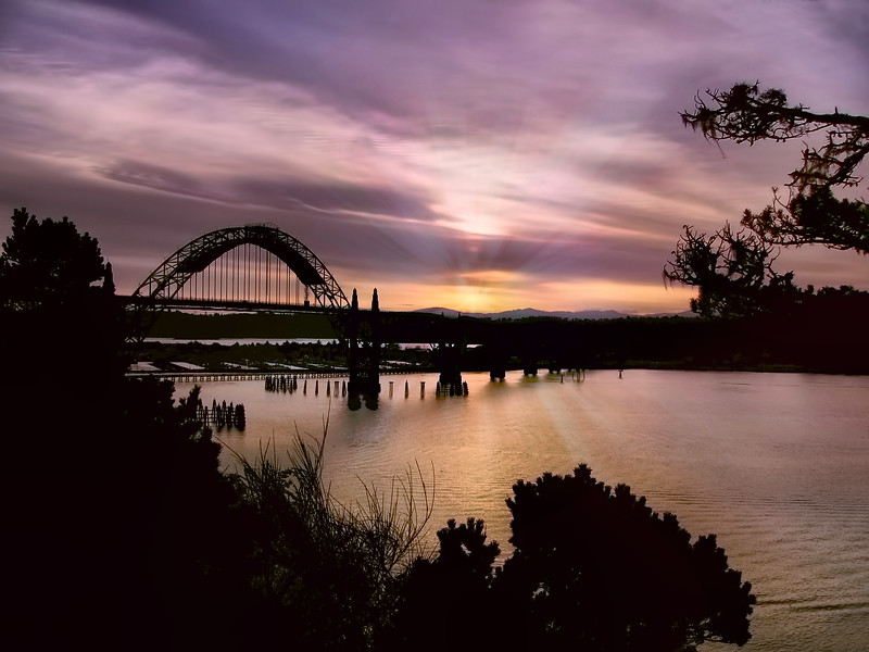 Yaquina  Bay Sunset