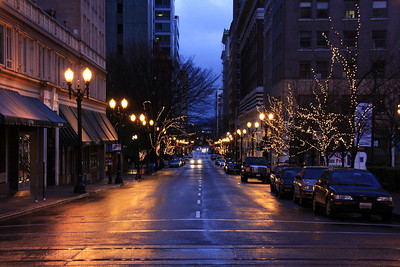 Portland Streets.  Washington.