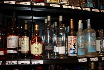 Martin Ryan Handmade Vodka, Apia Vodka.  On the shelf among others.