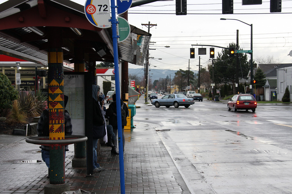 Bus stop on Killingsworth.  Waiting for the #72 to head to Lagniappe.