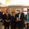 Portland Bowl 2017 winners - Cambridge B - Freddie Illingworth, Kripa Panchagnula, Kyle Lam, (Giles Hargreave, Deputy Chairman of the Portland Club),  Michael Alishaw