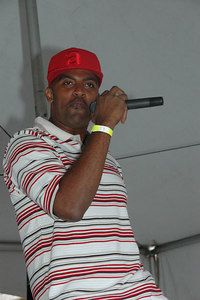 Flameboy Records recording artist Anthony Antoine at Boxxes Stark Street Block Party
