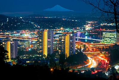 Portland and Mt. Hood