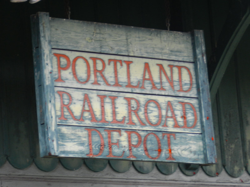 Old sign on  railway station