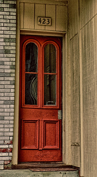 Reflections in the Red Door