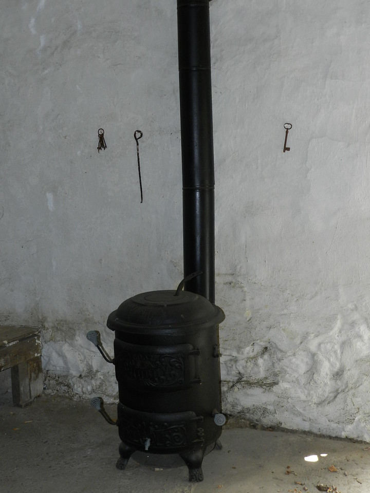 Stove that kept jail cell warm.