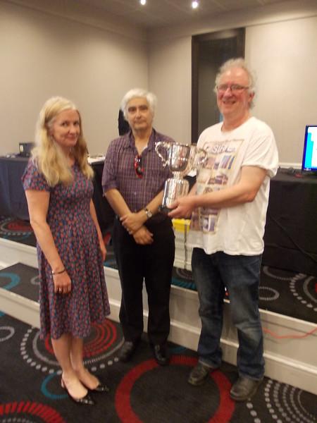 2017 Portland Pairs winners - Catherine Curtis & Paul Fegarty